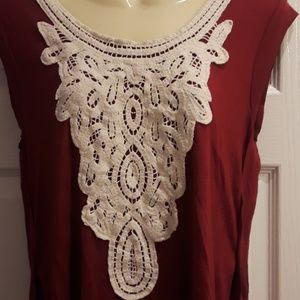 Eyeshadow Tops - Eyeshadow Crochet Detail Top